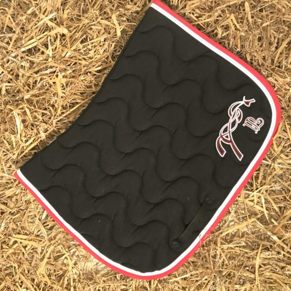 tapis point sellier noir rouge penelope leprevost - Tapis Penelope Leprevost