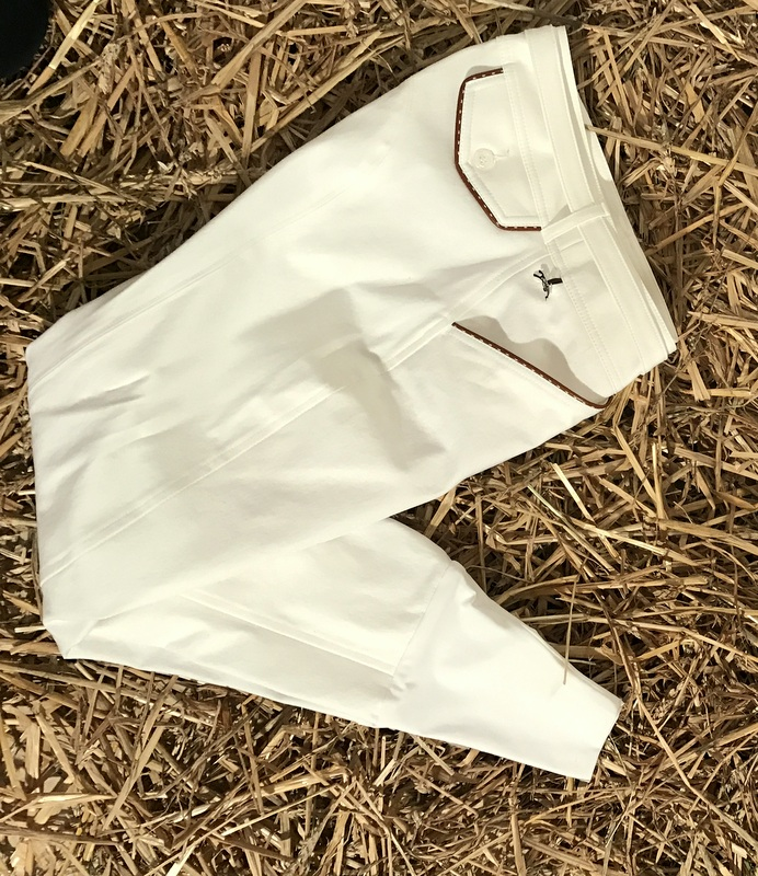 "Pantalon d'Equitation Blanc - ""Point Sellier"" - Penelope Leprévost"