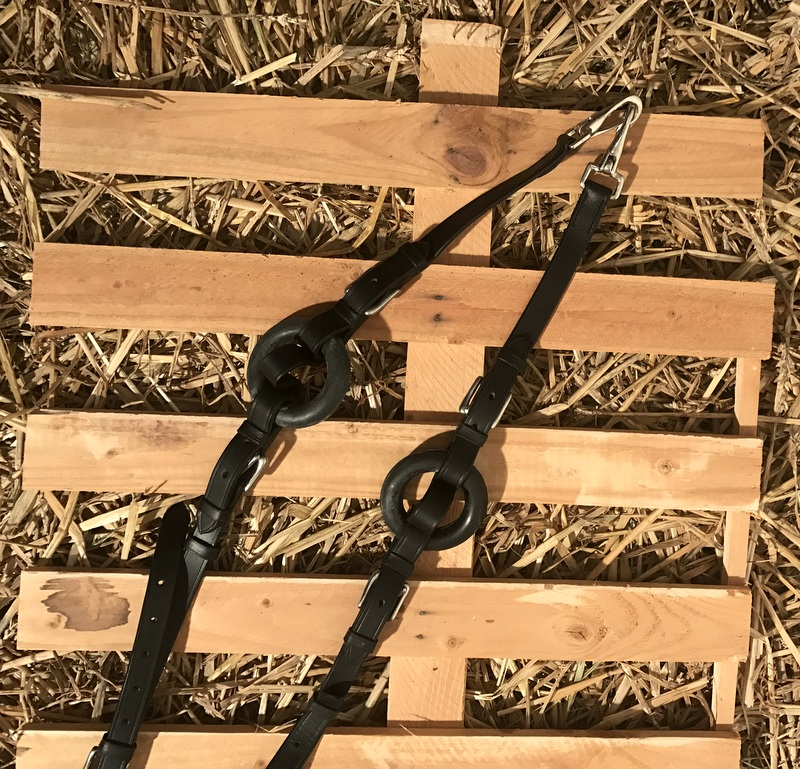 Elastiques en cuir - Noir - Lamicell