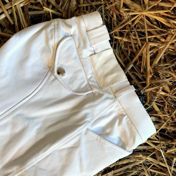 Pantalon d'équitation Blanc Homme - Extra Grip- Lamicell